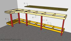 Garage Workbench Plans Garage Work Bench Building A Workbench 14 Super Simple Workbenches You Can Build The Family Handyman Amazing Garage Workbench Ideas 11 Garage Workshop Garage 27 Sturdy Diy Workbench Plans Ultimate List Mymydiy… Garage Workbench Plans, Garage Bench, Building A Workbench, Building A Garage, Diy Garage Storage, Woodworking Workbench, Woodworking Projects Diy, Workbench Top, Folding Workbench