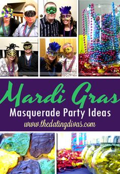 Some fun Mardi Gras party ideas- love the games, food, and masks!