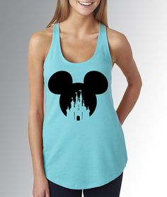 Mickey Mouse Ears/Head Castle * Cancun Blue Tank Top * Jersey Top * Disney Running Shirt * Run Disney * Racerback * Vacation