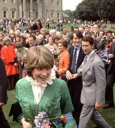 198) May 9, 1981 - Diana was brilliant at working a crowd, even then. She proved to be a natural at the job of being Royal even on her earliest engagements.