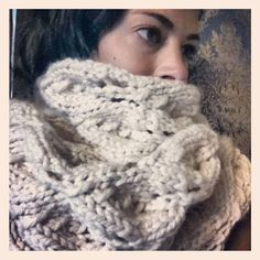 Super Bulky Wool Knit Scarf by brandymccoysboutique on Etsy