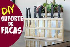 SUPORTE DE FACAS EM MADEIRA - DIY | #ClubeDaCasa