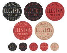 logo type hand lettering grain graphic design badge