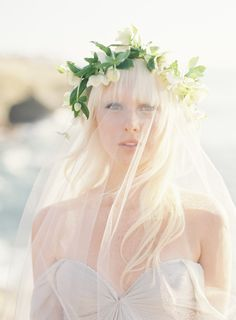 Metallic inspired wedding ideas - floral crown