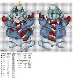 Cross-stitch Snowman Christmas Ornament, part 2... sneeuwpoppen