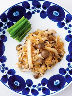 【ELLE a table】切り干し大根ときのこの中華風温サラダレシピ|エル・オンライン