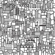 Look hard and you'll spot 21 London buildings in Printed Space's London Skyline Wallpaper. Designer Richard Coward won a TFL/London Festival of Architecture competition to celebrate the famous skyline. Eschewing an obvious linear depiction, he chose to show the capital's best-known landmarks as a repeating pattern, which not only creates a striking graphic, but also accurately replicates what it feels like to be lost in London and going round in endless circles.