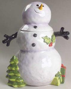 Confetti Snowman Cookie Jar by Certified International