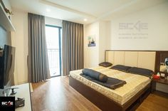 Nội thất phòng ngủ master và bé gái đẹp tại chung cư Times city. Thiết kế và thi công bởi nội thất V.SCALE