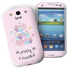 Personalised Cupcake Samsung Galaxy S3 Phone Skin  from Personalised Gifts Shop - ONLY £7.95