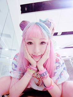 hair edit asian pink ulzzang Chinese cfashion Chinese ulzzang fei zhu liu fzl culzzang amber man c-ulzzang