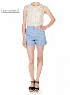 Princess Highway blue polka dot shorts Polka Dot Shorts, Blue Polka Dots, Princess Highway, Bermuda Shorts, Random, Clothing, Outfits, Women, Fashion