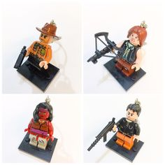 A personal favorite from my Etsy shop https://www.etsy.com/listing/236001310/lego-walking-dead-set-keychain-lego