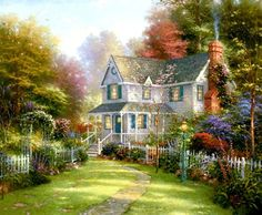 Victorian Garden II - Thomas Kinkade