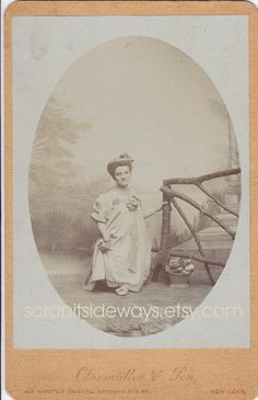Antique photo of Princess Wee Wee a circus little person or midget.  She travelled with the Great Patterson Shows Circus.  Married to Hopp the Frog Man.