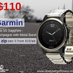"671fdcf8571f Ready Set Go Fitness on Instagram  ""Get more from your workout with less on  your wrist with sleek design and stylish aesthetics. Garmin Fenix 5S  Sapphire ..."