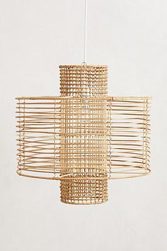 Deco Rattan Pendant Lamp #anthropologie  I think this could be the one for breakfast room! Love the open airy features! Gail???