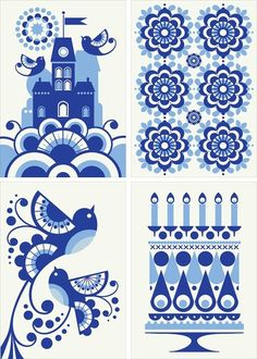blue and white by Ioana Dana