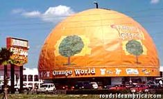 Orange World, Kissimmee. Claims to be world's largest orange (even though it's half an orange). Clearwater Florida, Sarasota Florida, Old Florida, Florida Travel, Central Florida, Florida Beaches, Mexico Travel, Vintage Hawaii, Vintage Florida