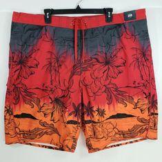 63081a254e Roundtree Yorke Big Man Swim Trunks Shorts Sz 2X B Suit Swimwear Beach  Tropical #RoundtreeYorke