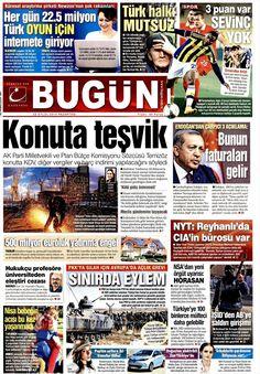 Gazete Manşetleri Bugün Gazetesi 22.09.2014 TARİHLİ GAZETE