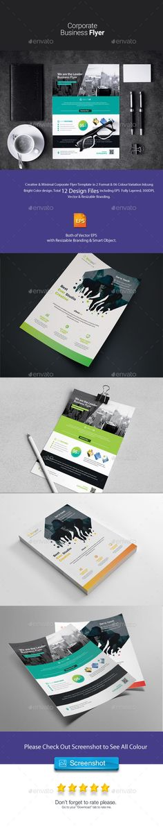 Corporate Flyer Bundle 2 in 1 Corporate Flyer, Business Flyer, Find Fonts, Marketing Flyers, Psd Flyer Templates, Creative Flyers, Color Themes, 2 In, Color Change