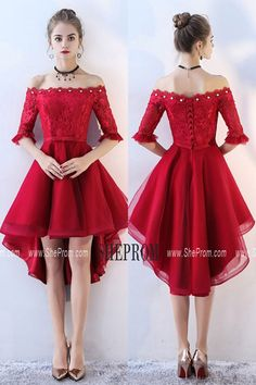 2632802580a Simple Red Satin Homecoming Party Dress with Strap -  69.3  BLS86013 -  SheProm.com in 2019