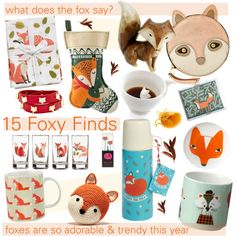 "Fox home decor! ""adorable fox gift guide"" by cutandpaste on Polyvore"