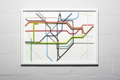 London Underground Map made out of drinking straws