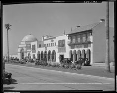 Westwood Village, Los Angeles.  Circa late 1920s/early 1930s. #1920s  #1930s  #shopping district  #fox theater  #Los Angeles Historic-Cultural Monuments
