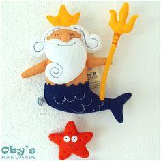 Fiocco nascita - Banner nome - Nettuno Mare Cavalluccio marino Stella marina Medusa Pesce Tonno Granchio - Personalizzabile - Fatto a mano di Obyshandmade su Etsy