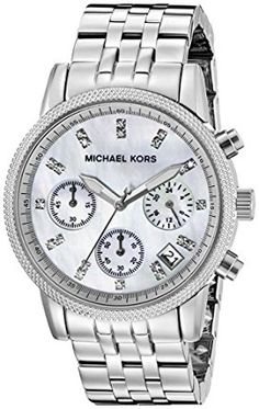 667e4c03b740 Amazon.com  Michael Kors Women s Ritz Silver-Tone Watch MK5020  Michael Kors