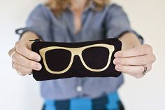 Make your own eyewear cases.