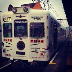 "@kurokaichi's photo: ""和歌山電鐵貴志川線2270系電車(ねこみみ電車)"""