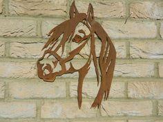 Rusty Metal Horse Head - Wall Hanging Garden Art A decorative piece for your gar. Horse Face, Horse Head, Metal Yard Art, Metal Art, Garden Wall Art, Horse Wall Art, Horse Sculpture, Rusty Metal, Farm Yard