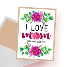 """""""Mom you are the queen Happy Mother's Day"""" & Printable Digital Card - spoonyprint Happy Mother S Day, Mother Quotes, Mothers, Printables, Queen, Mom, Digital, Frame, Cards"""