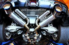 Modified custom Nissan 370z HKS & Kinextix Hi Flow Cat exhaust system  http://www.1modifiedcars.com/2010/11/17/modified-custom-nissan-370z/