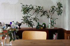24cmに枝物ユーカリをグワーン
