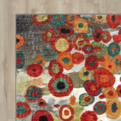 Found it at AllModern - Burwood Tossed Floral Multi Printed Area Rug