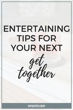 One reason I was so excited to purchased a home is that we love to entertain, but previously never had the space to do so. Now that we have a house and huge yard, we have plenty of space to entertain friends and family. Today I wanted to share a few of my favorite entertaining tips that we use for get-togethers and that you can use for yours!
