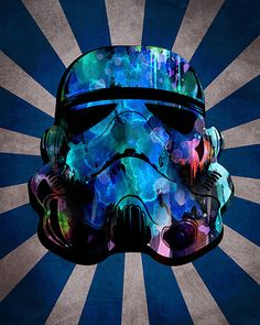 Storm Trooper Print - Star Wars - Watercolor - boys Nursery - ManCave - Star Wars Print - Print // @Erin B B Ochenski