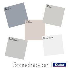 Dulux Scandinavian Colour Palette Mood Board - Style Sourcebook View this Interior Design Mood Board and more designs by Dulux Australia on Style Sourcebook. House Color Palettes, Color Schemes Colour Palettes, Modern Color Schemes, Exterior Color Schemes, Paint Color Schemes, House Color Schemes, Room Paint Colors, Paint Colors For Living Room, Paint Colors For Home