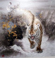 Silk Embroidery Tiger Painting - Embroidery Blog of Su Embroidery ...