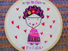Hand Embroidery Patterns, Cross Stitch Embroidery, Cross Stitch Patterns, Embroidery Designs, Purl Bee, Fabric Ribbon, Mexican Art, Elementary Art, Needlepoint