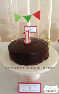 Mothering and Macarons: The Very Hungry Caterpillar First Birthday Party - some great food and activity ideas on this blog