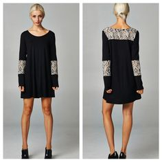 Saletaylor Lace Tunic Dress