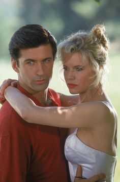 "Kim Basinger and Alec Baldwin in ""The Marrying Man"""