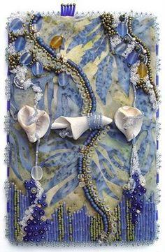 Bead Journal Project, Christi Carter, shells, sky