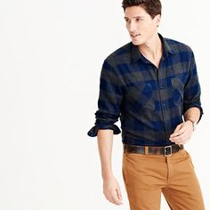 IN LARGE.  This flannel shirt is made the old-fashioned way—using a specialty Japanese cotton that's warm, durable and brushed for a softer texture. In keeping with that traditional spirit, we cut it in our vintage fit, which includes a little extra length and room in the waist. <ul><li>Classic fit.</li><li>Cotton.</li><li>Camp pockets.</li><li>Machine wash.</li><li>Import.</li></ul>