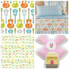 Suzy Ultman bedding at Land of Nod Love My Kids, Cool Kids, Sweet Child O' Mine, Land Of Nod, Cot, Suzy, Bunk Beds, Baby Room, Kids Room
